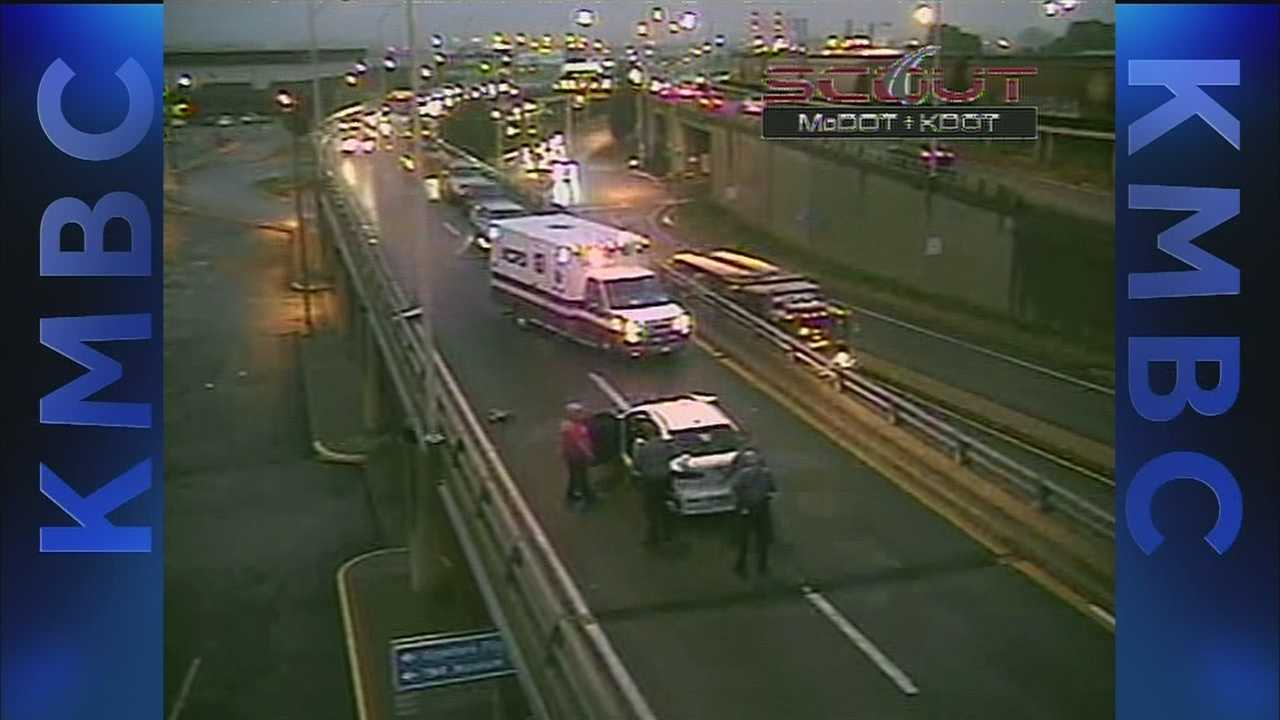 Accident on 169 Highway south at Broadway Bridge