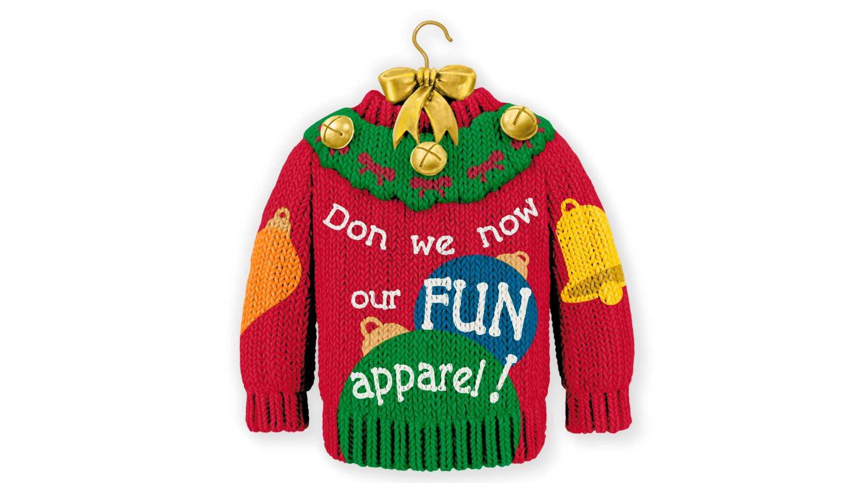 Hallmark sweater ornament