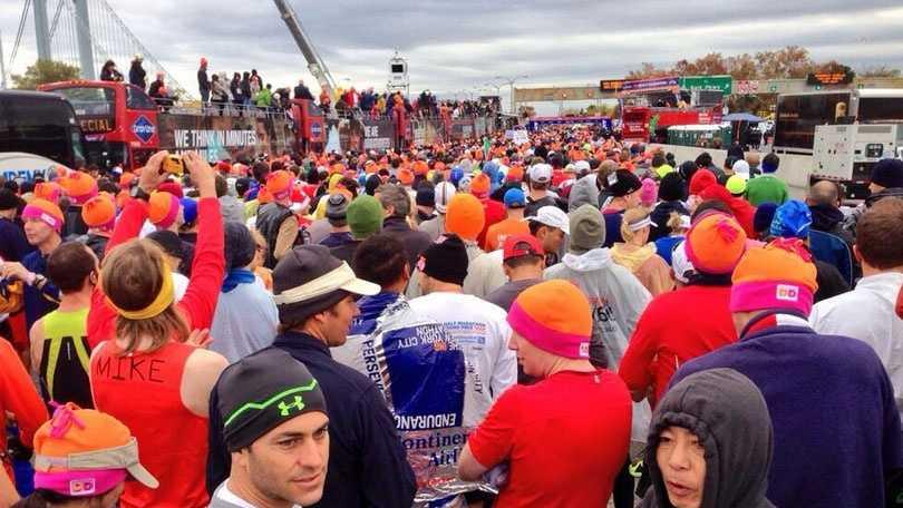 NYC Marathon Starting Line
