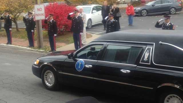 Image Skelton funeral motorcade