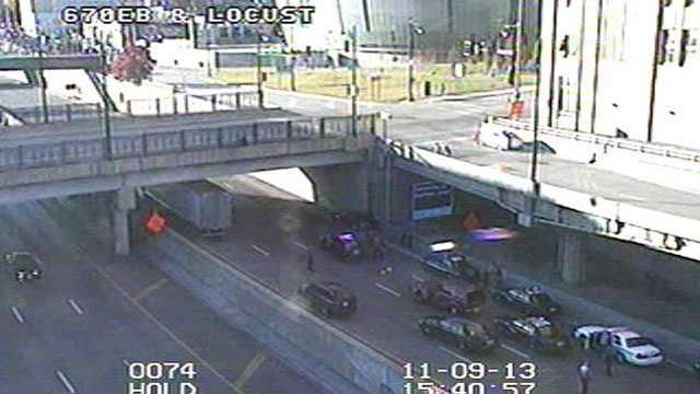 Police pursuit I-670, Locust