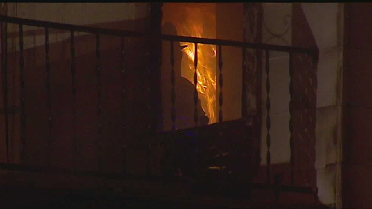 Kansas City firefighters were busy overnight, battling two fires, one which included a roof collapse.