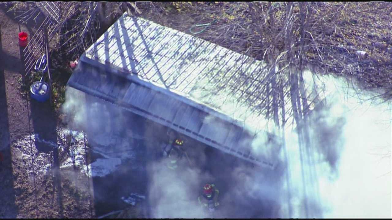 20875 Mission Road barn fire