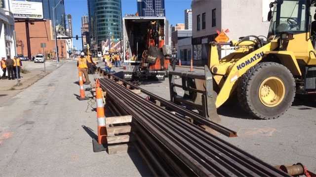 Rails for KC streetcar