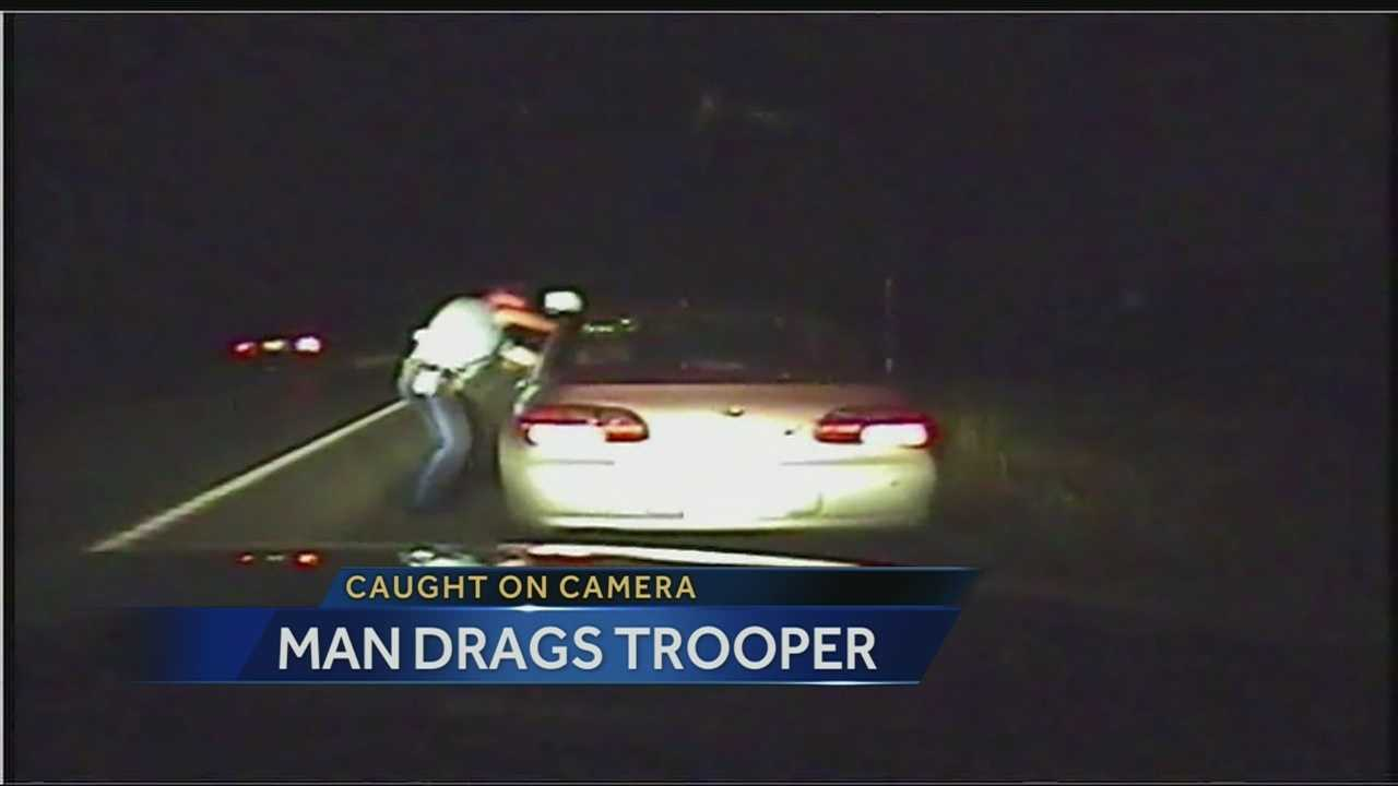 Image Trooper dragged during traffic stop