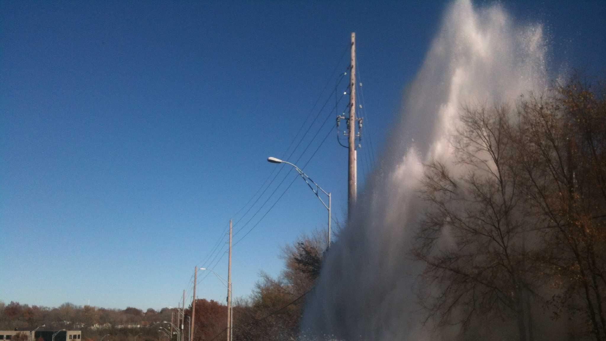 95th Street and Wornall Road water main break