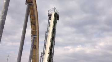 Images of construction of Verruckt, a new water slide under construction at Schlitterbahn in Kansas City, Kan.  The water park claims it will be the world's tallest and fastest water slide.