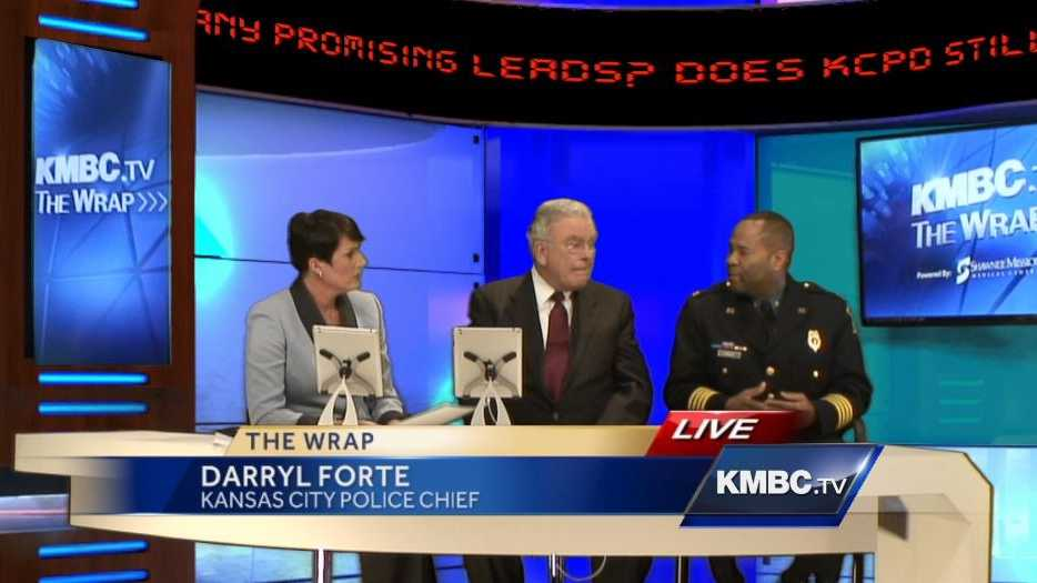"Kansas City Police Chief Darryl Forte answers KMBC viewer questions on ""The Wrap."""