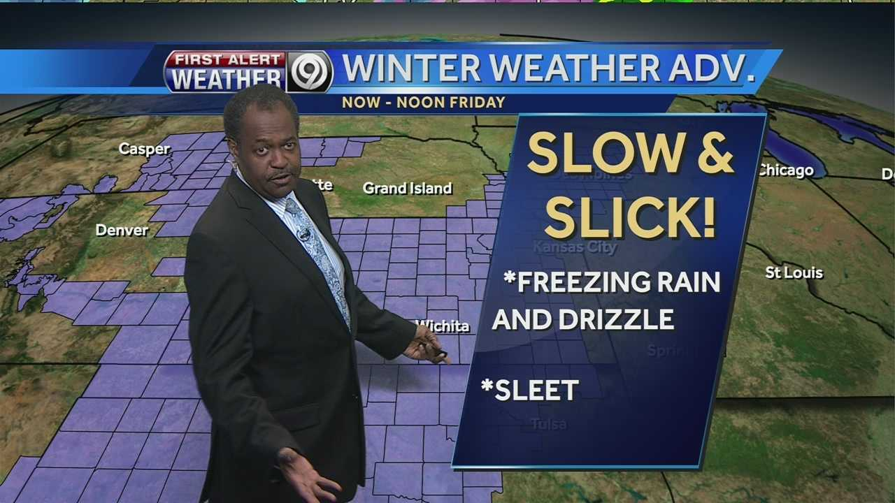 KMBC 9 chief meteorologist Bryan Busby says freezing rain, drizzle and maybe a few snowflakes could make for a messy combination across the region overnight Thursday and early Friday morning.