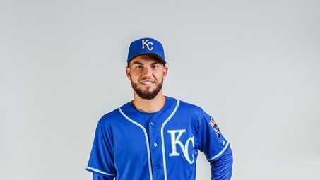 Eric Hosmer in new Kansas City Royals road uniform