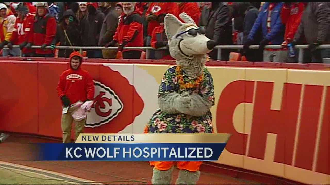 Image K.C. Wolf with hospitalized banner
