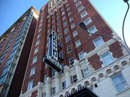 Images from the Aladdin Hotel in downtown Kansas City, Mo., which was robbed by an armed gunman on Thursday morning at about 8 a.m.