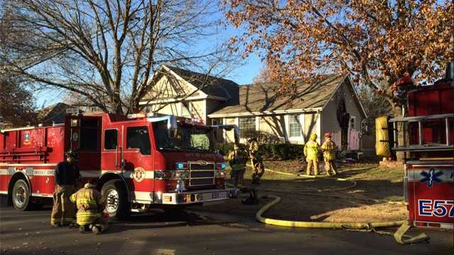 Image Olathe house fire - Thanksgiving Day