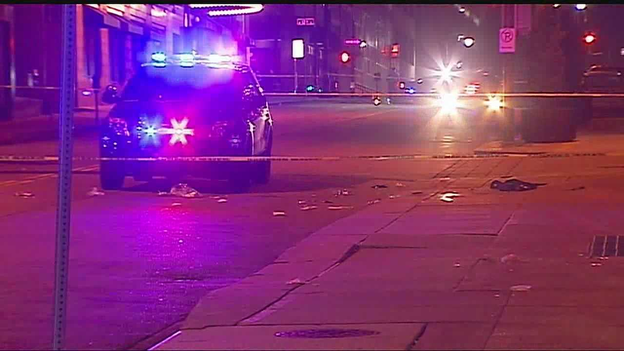 Image KC police shooting scene - firefighter killed