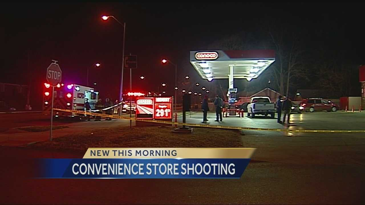 One person has suffered serious injuries and one person is in custody following a shooting at a convenience store along the Paseo overnight.