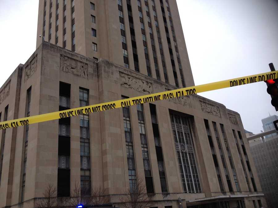 Kansas City, Mo., City Hall was evacuated on Tuesday morning after someone called in a bomb threat.  No injuries were reported.
