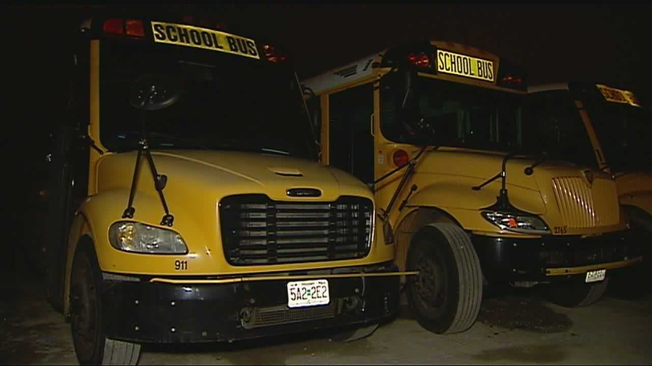 Temperatures will take a big tumble in time for students to wait at bus stops early Thursday, but school transportation companies are making plans to make sure the buses are ready on time.