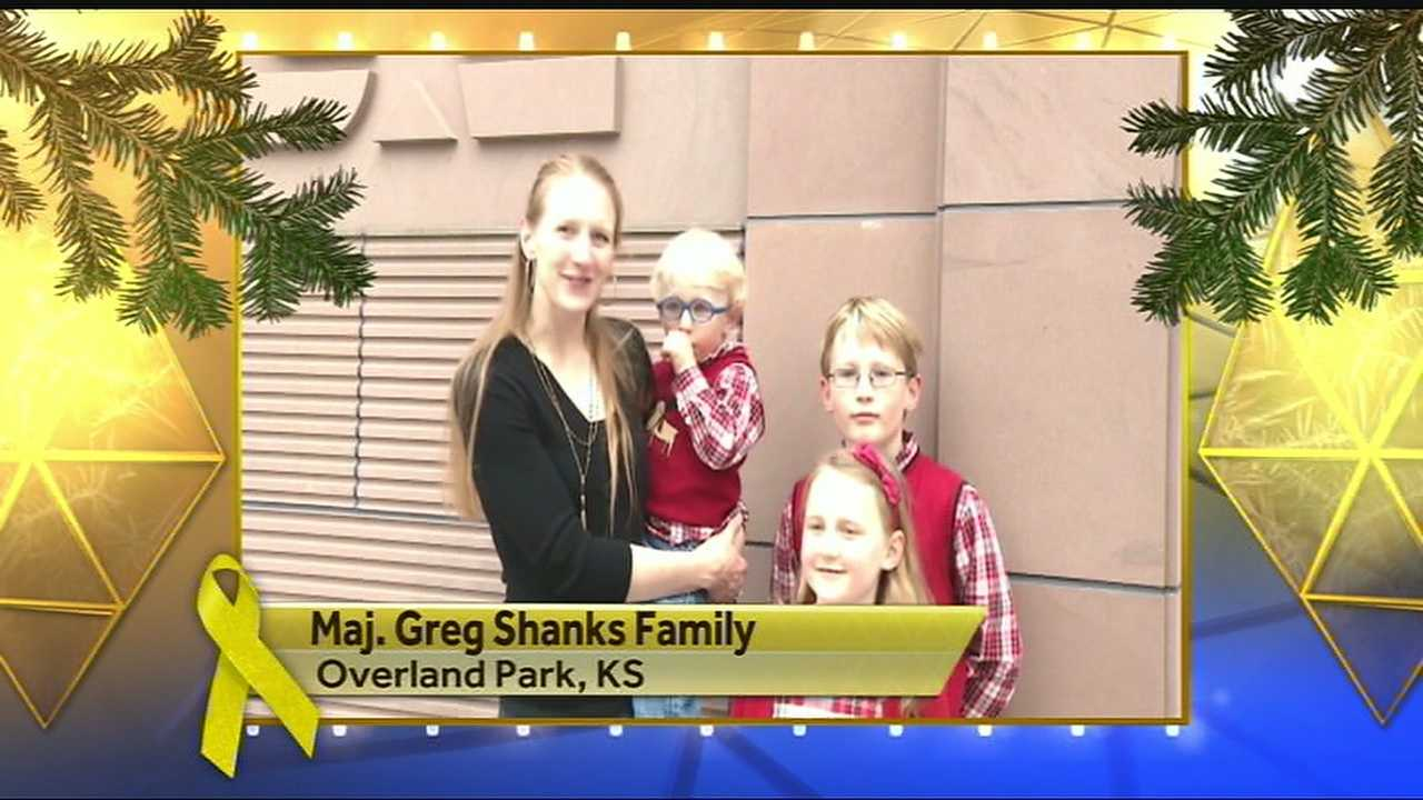 Maj. Greg Shanks Family says happy holidays.