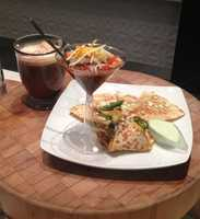 A hot cocoa or a chili martini?  Perhaps you'd like both to wash down your grilled quesadilla out in the cold.