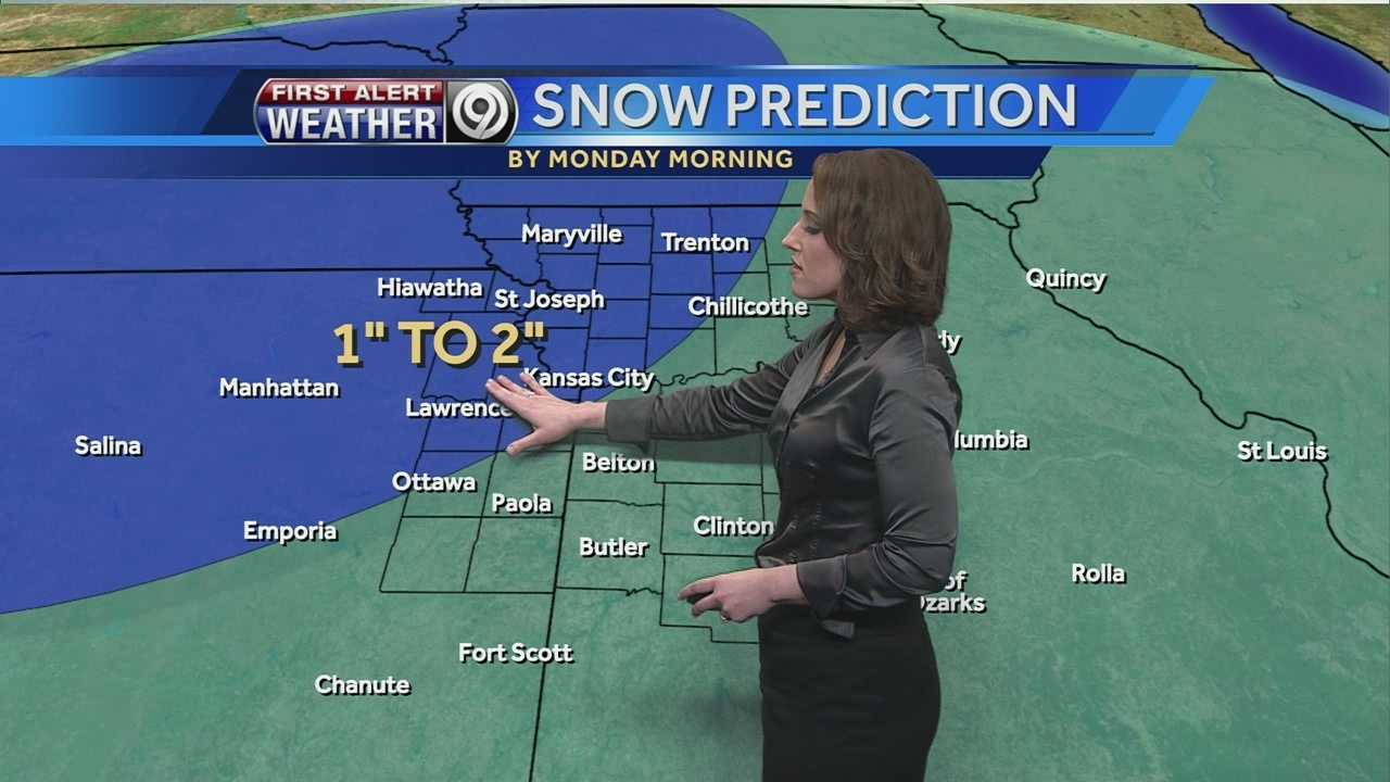 KMBC's Lisa Teachman tells us how much snow we should see on Sunday, and how cold it will stay into next week.