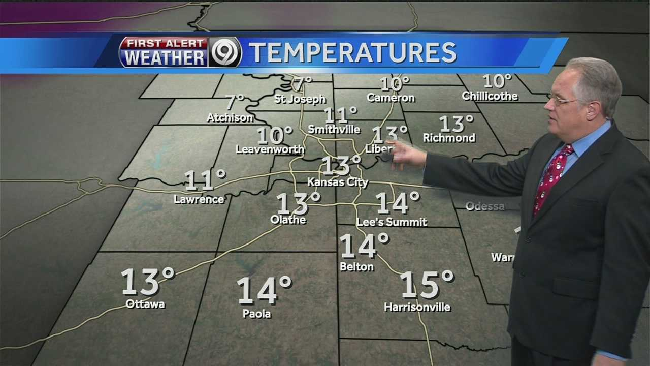 KMBC's Joel Nichols tells us how much warmer it'll get this week and whether we'll see rain or snow by Friday.