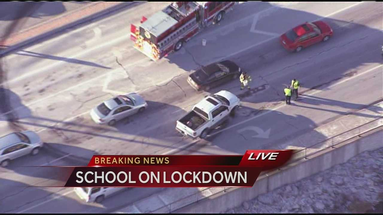 Chase with truck thief ends near Overland Park high school