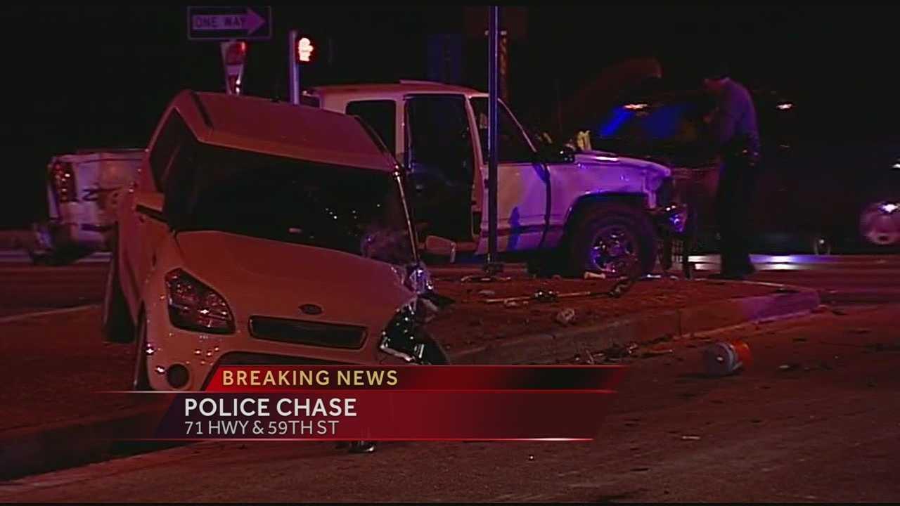Image Police chase crash scene