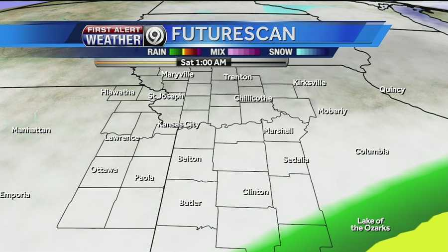 Take a look at the possible weather headed our way for Saturday.