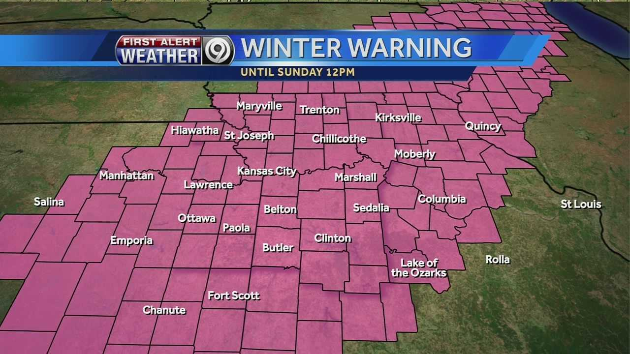 Winter warning graphic