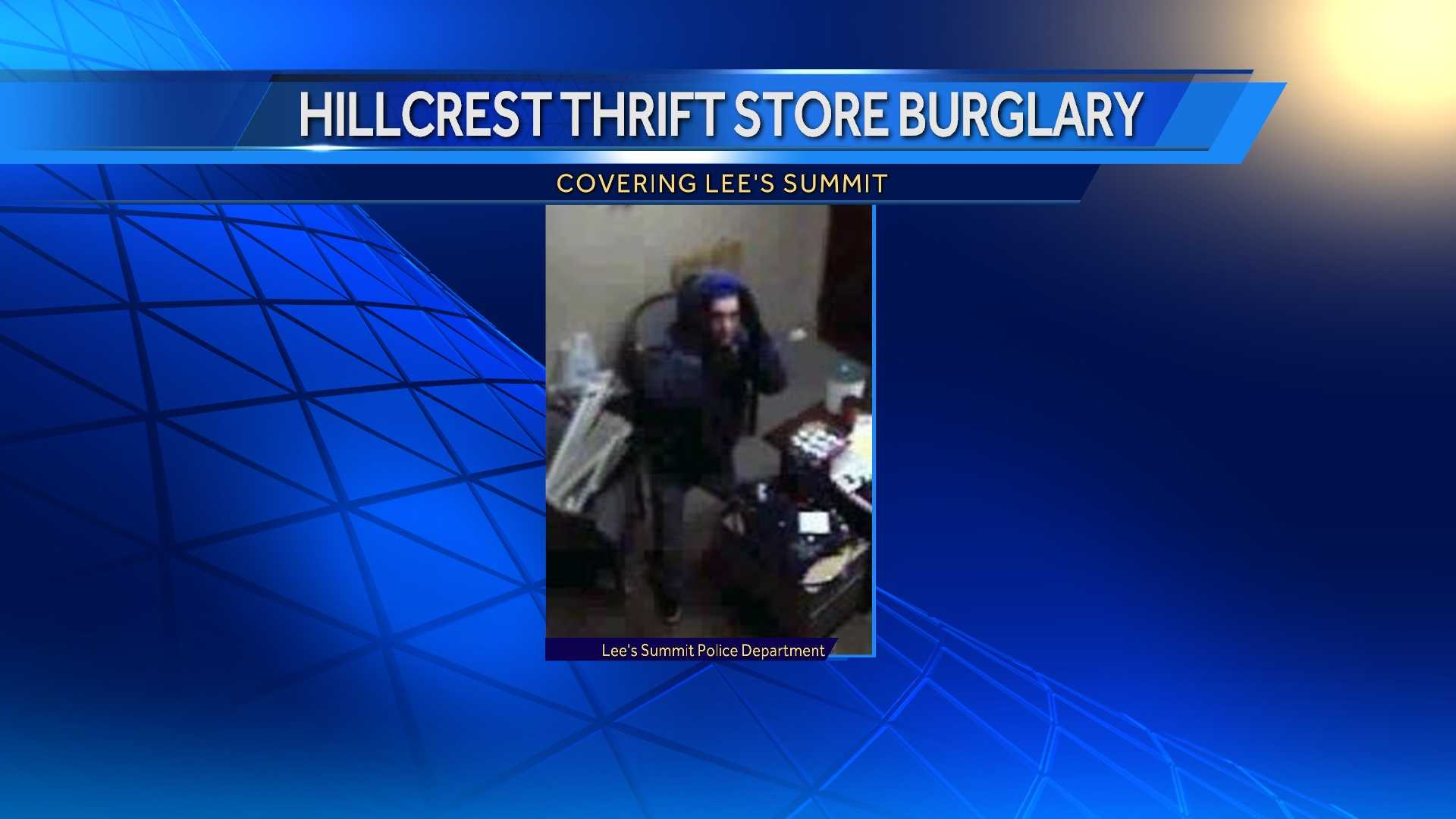 Burglar hits thrift store in Lee's Summit
