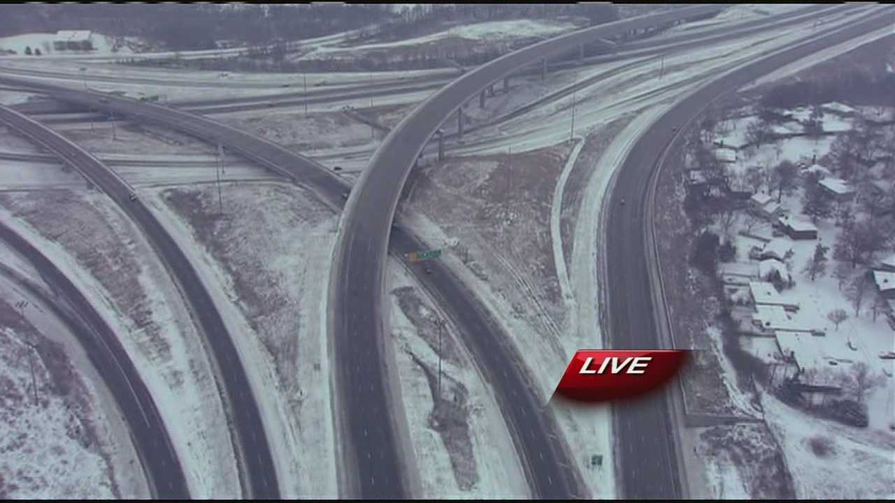 Snowy highways from NewsChopper 9 HD