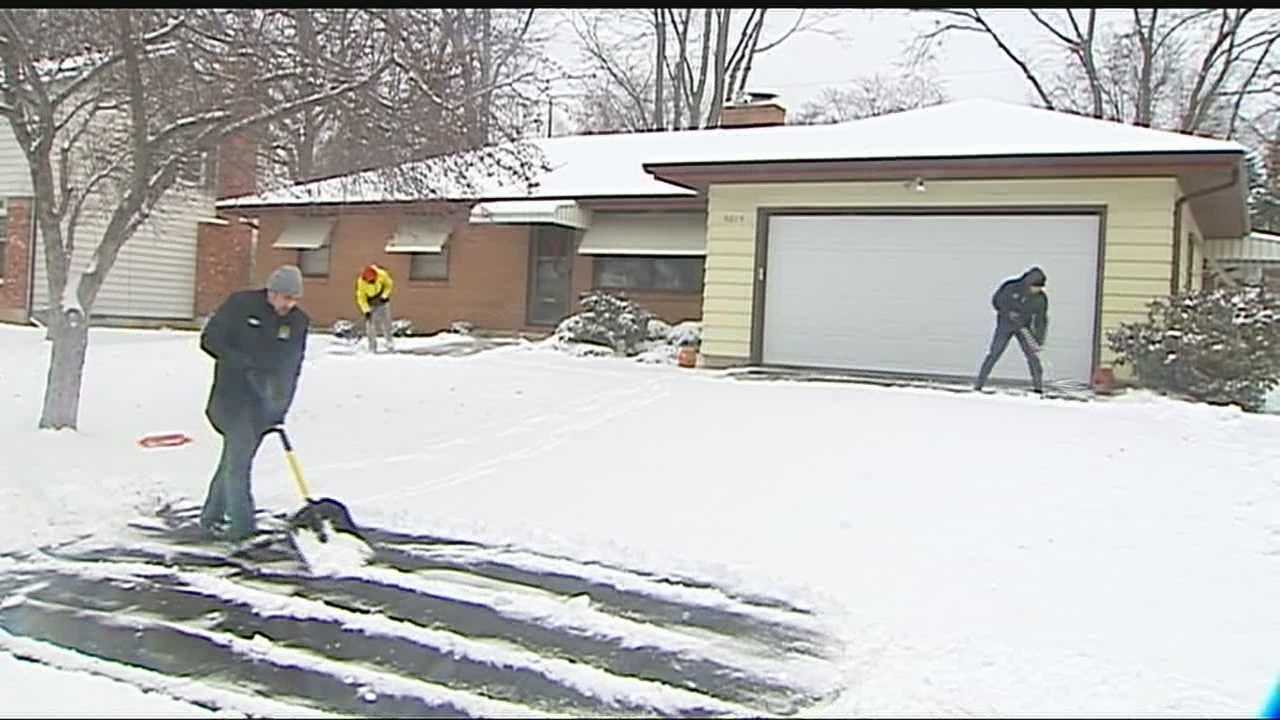 Neighborhoods digging out from weekend storm