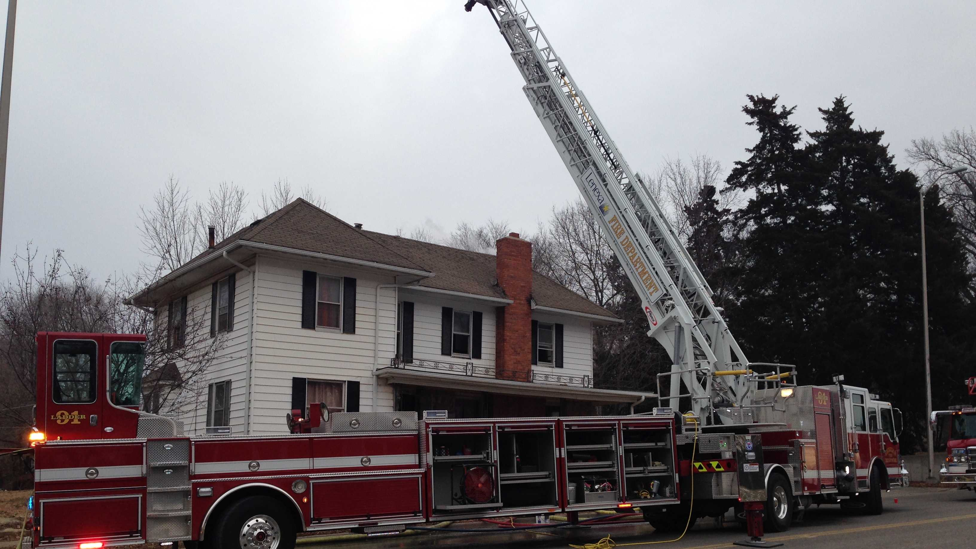Fire reported at home in Lenexa