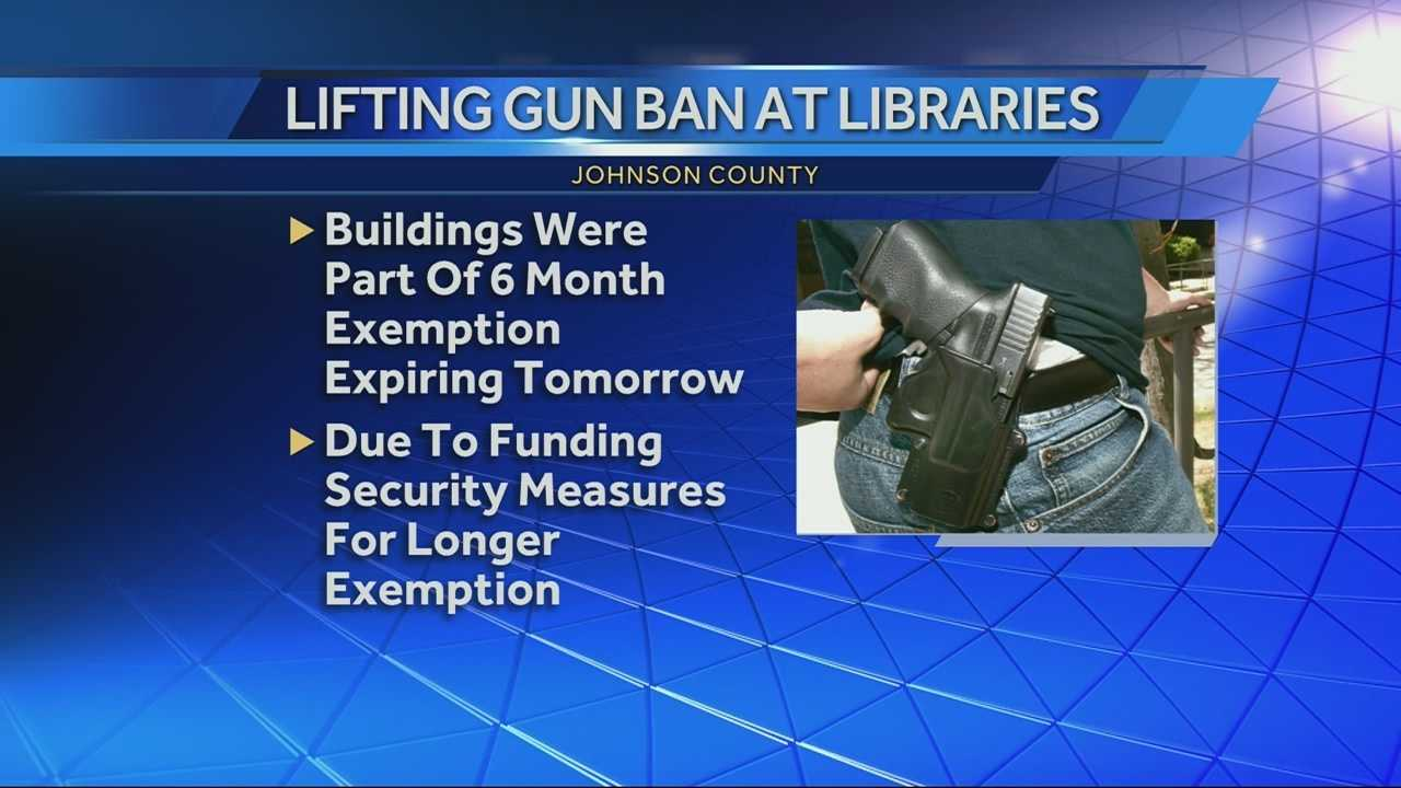 Johnson County Library gun ban lifted