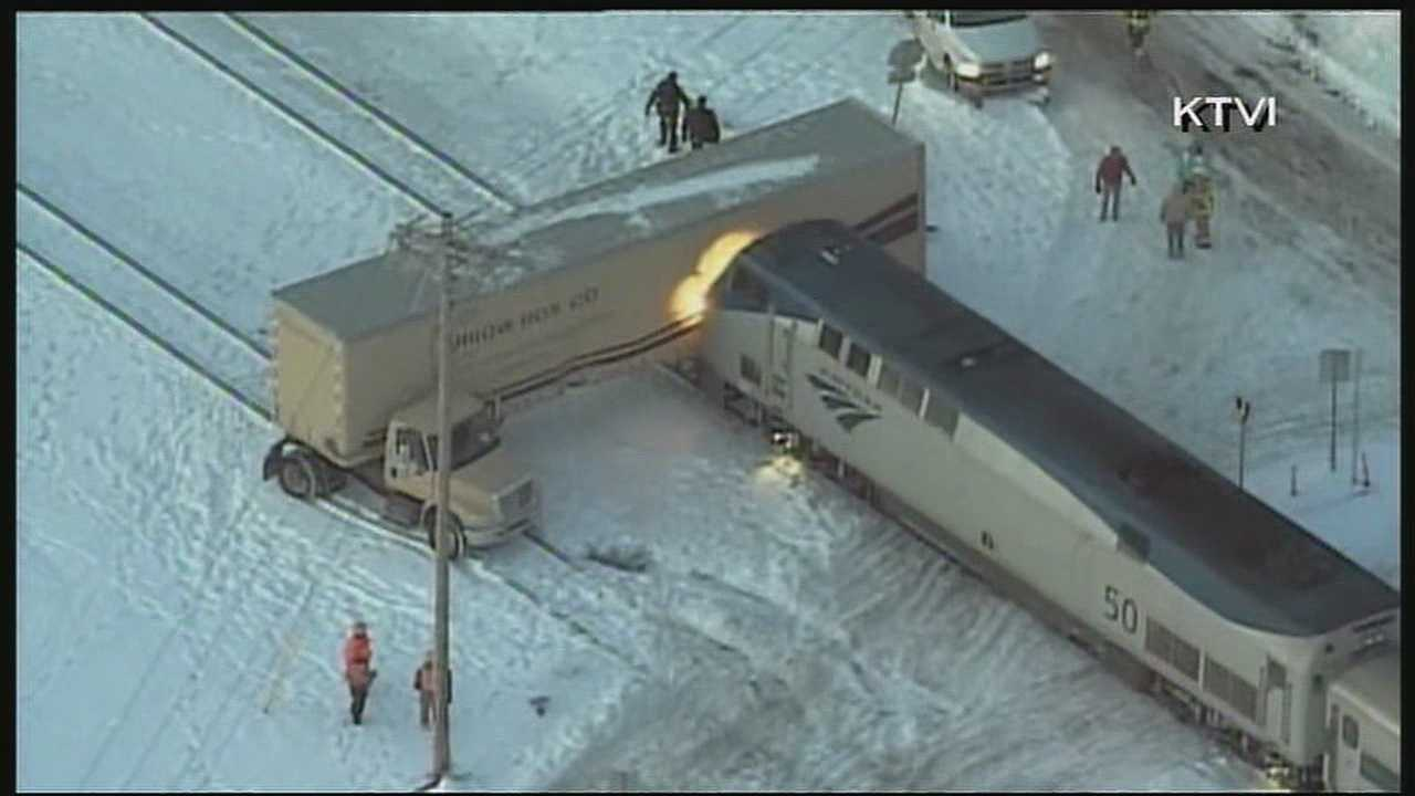 Amtrak train collides with big rig in Kirkwood