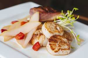 Broiled Scallops are just the beginning at 75th Street Brewery.