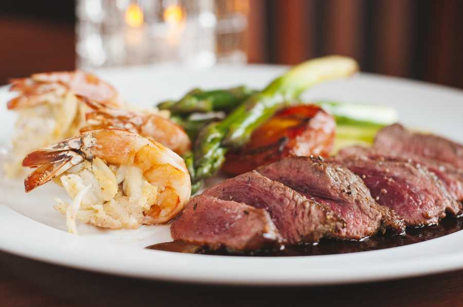 Looks like we have a steak and shrimp showdown this week! This dish from M&S Grill.