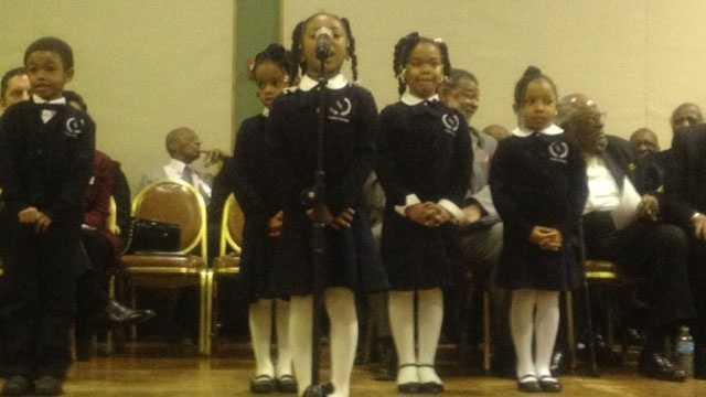 Image Children sing at MLK event in KCK