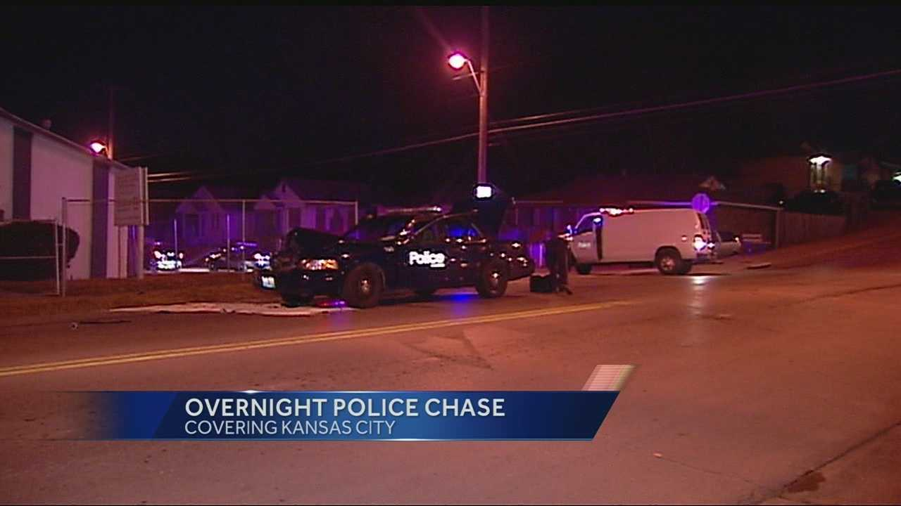 Police pursuit, crash