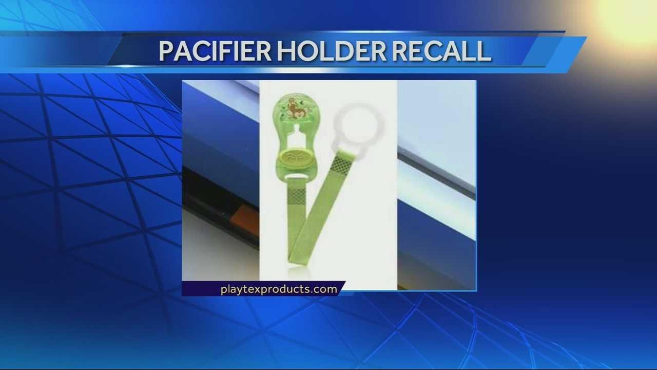 Pacifier holder recall