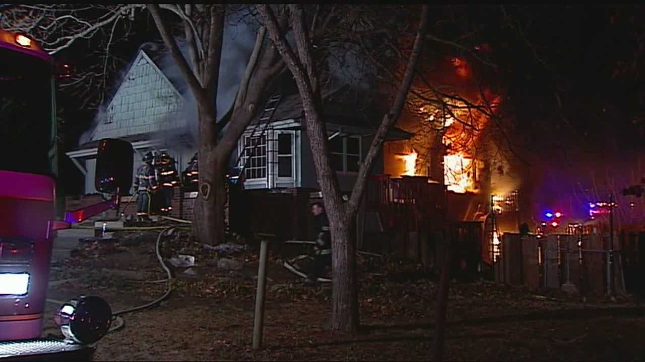 Neighbor dog save woman daughter from house fire img