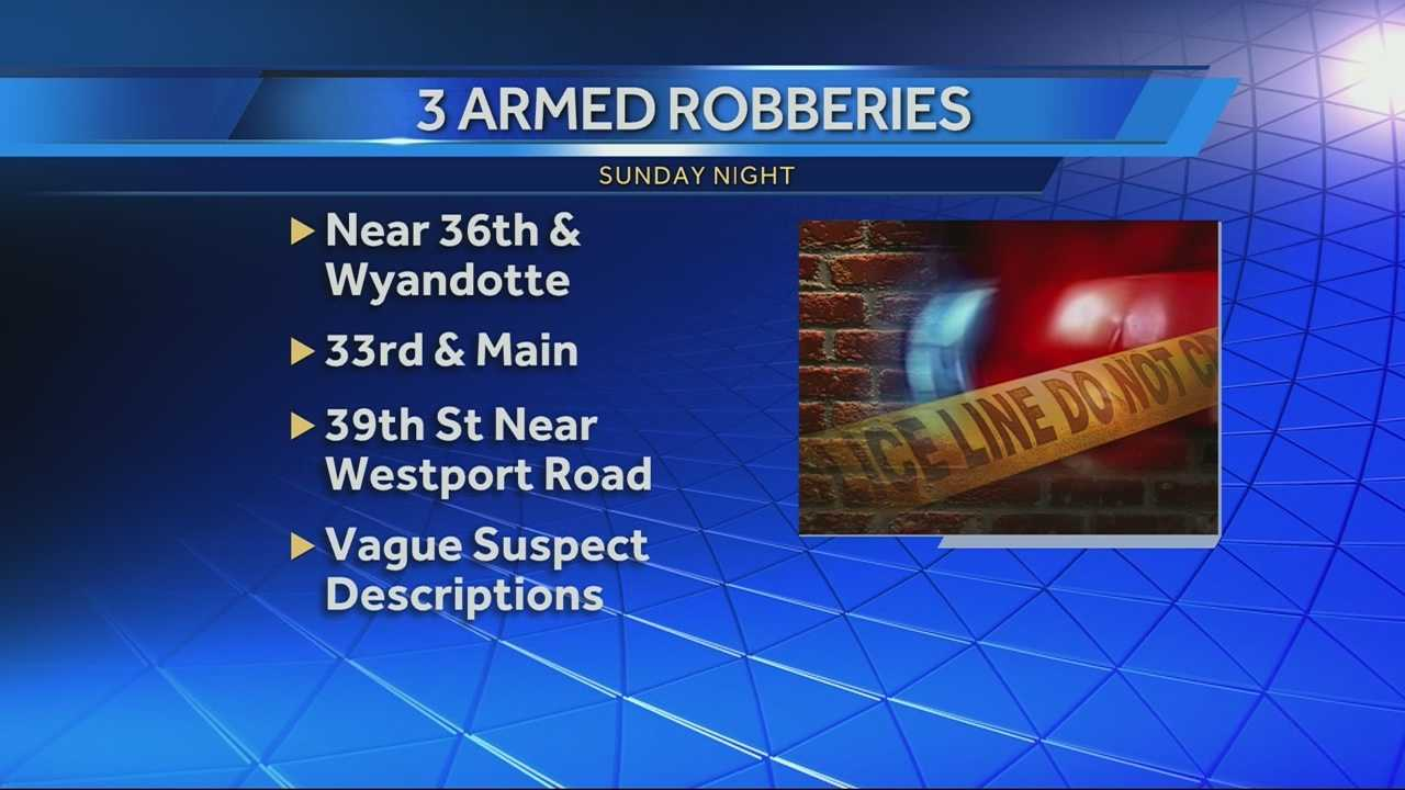 Police are looking for 2 men who robbed at least 3 people in Westport on Sunday night.