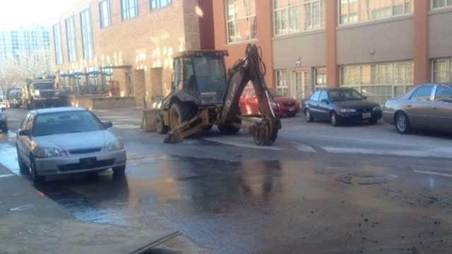 Image Water main break in downtown KC