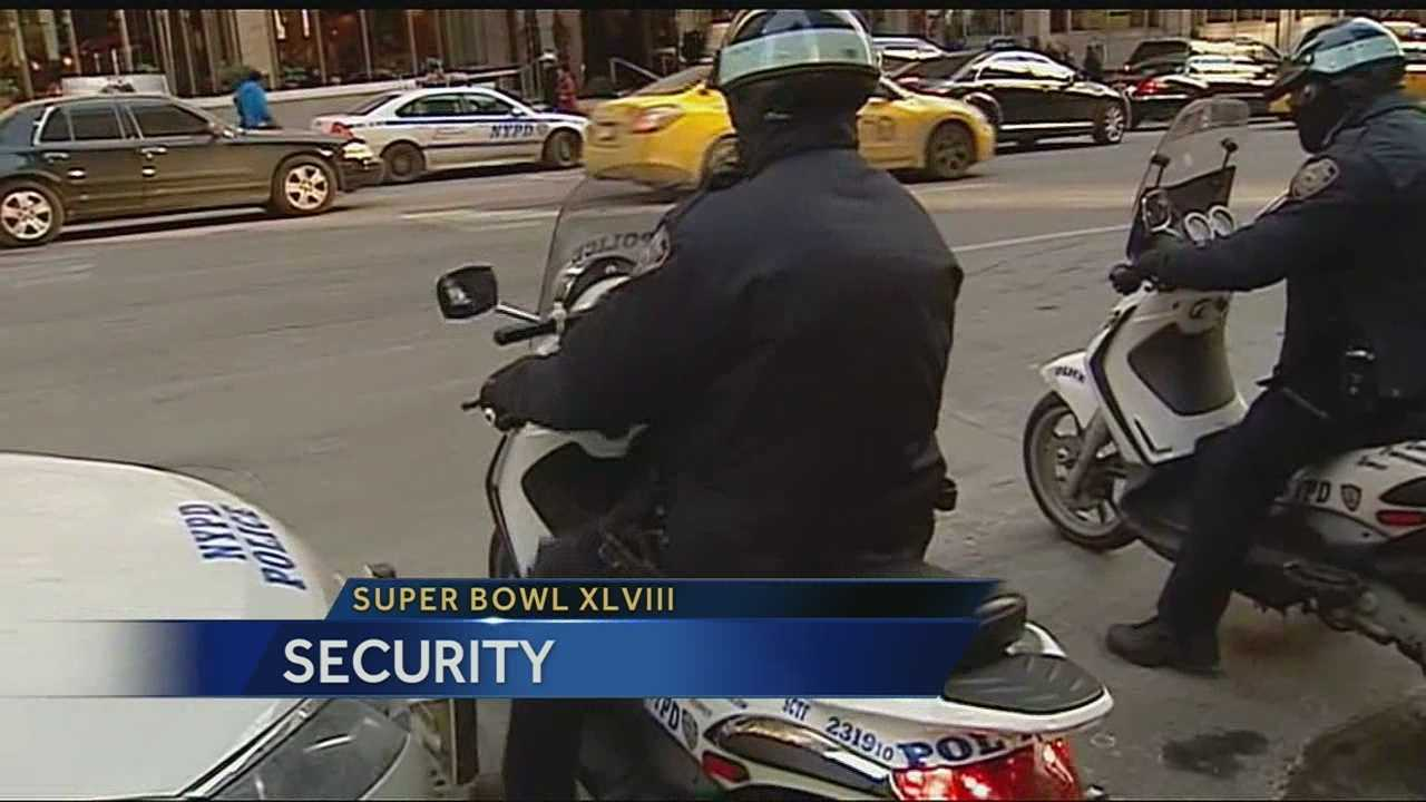 Security tight in New York as Super Bowl nears