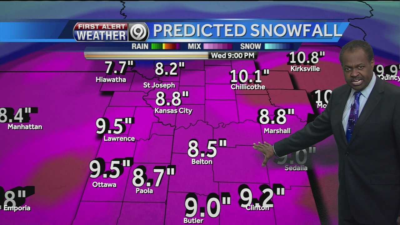 Image Bryan Busby and snowfall total predictions
