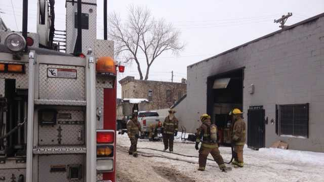 KCK commercial garage fire