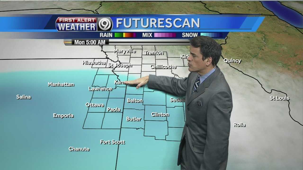Temperatures, snowflakes may fall overnight