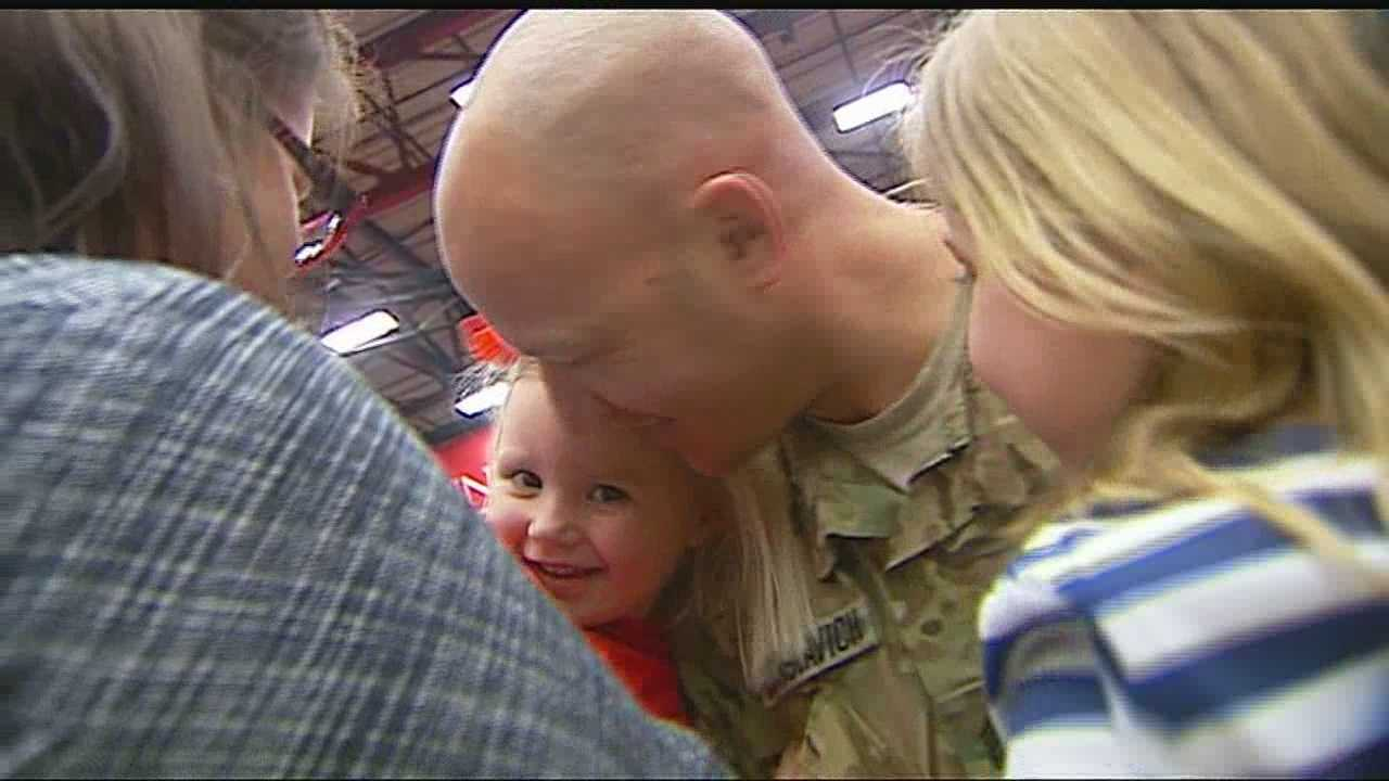 Dismissed Family friends welcome home National Guard members img