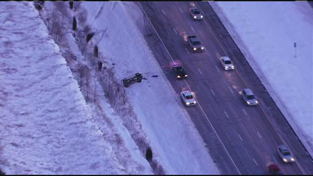 I-435, 87th Street rollover crash