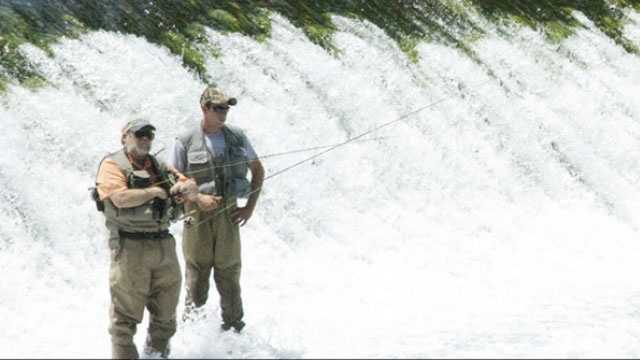 MARCH 1 -- The start of trout season in Missouri State Parks always draws crowds, especially at Bennett Spring State Park